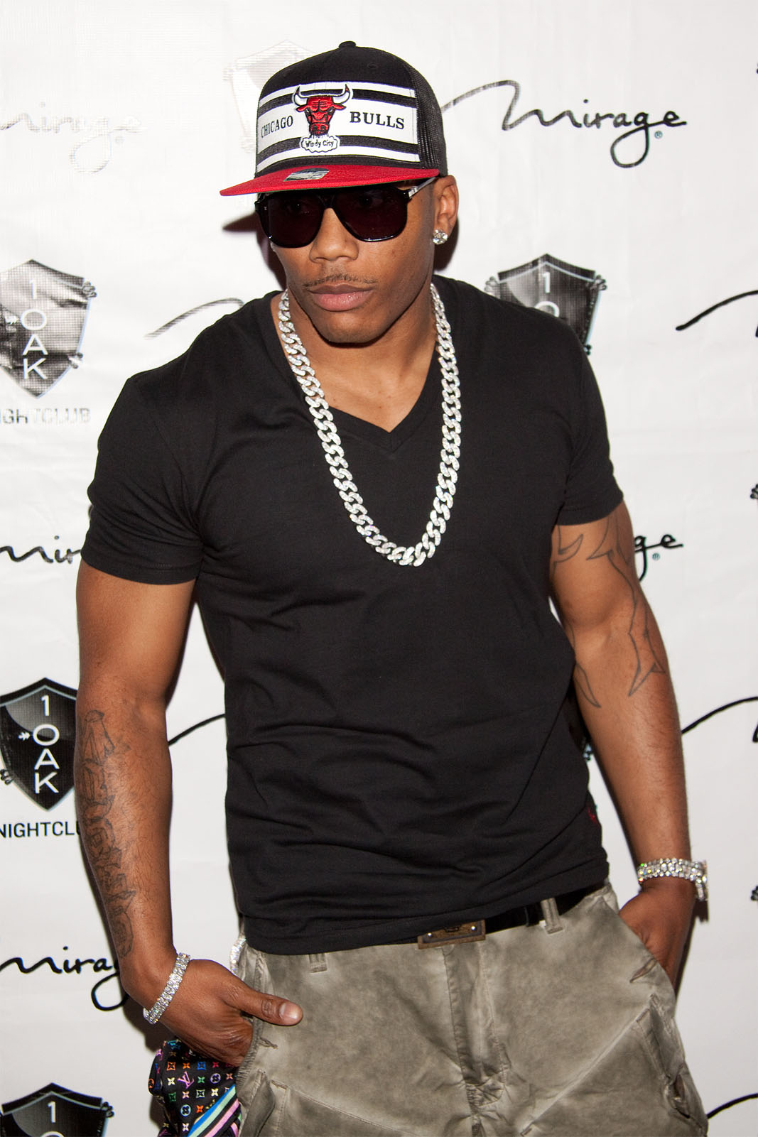 Nelly at 1 OAK Nightclub in Las Vegas